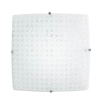 Plafoniera classico Pamela LED integrato bianco, in vetro,  D. 30 cm