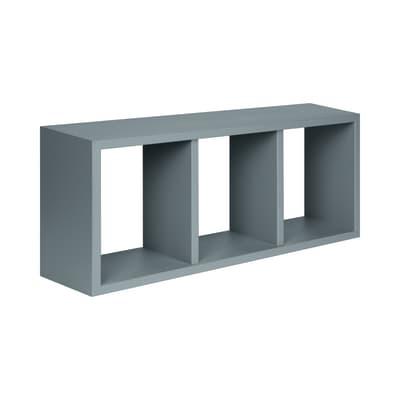 Mensola a cubo Spaceo L 70 x H 30 cm, Sp 15 mm grigio