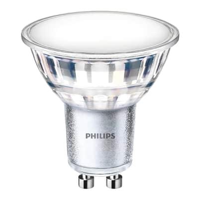 Lampadina LED, GU10, Faretto, Trasparente, Luce calda, 5W=550LM (equiv 50 W), 120° , PHILIPS