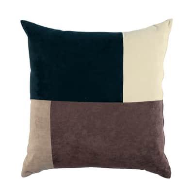 Cuscino Patchwork marrone 60x60 cm