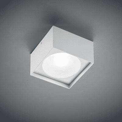 Plafoniera Cube square bianco, in alluminio, 10x10 cm, LED integrato 7W 669LM IP20