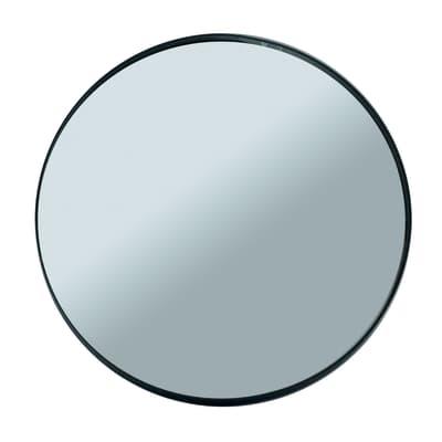Specchio da parete Mood tondo acciaio 27x27 cm