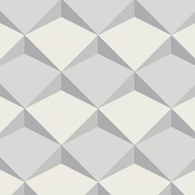 Carta da parati Scaglia 3D grigio