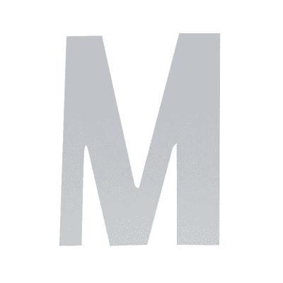 Lettera M adesivo, 7.5 x 5 cm