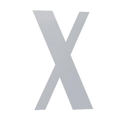 Lettera X adesivo, 3 x 2 cm