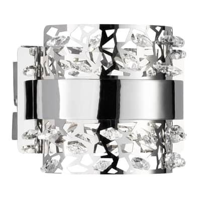 Applique Kris cromo, in metallo, 14.5x11 cm, LED incassato 4.2W IP20 WOFI
