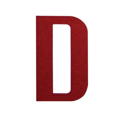 Lettera D adesivo, 7.5 x