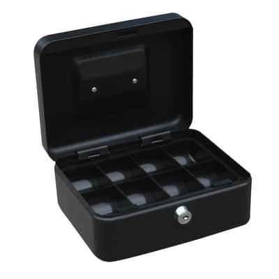 Cassetta porta valori in acciaio grigioL 20 x P 16 x H 9 cm