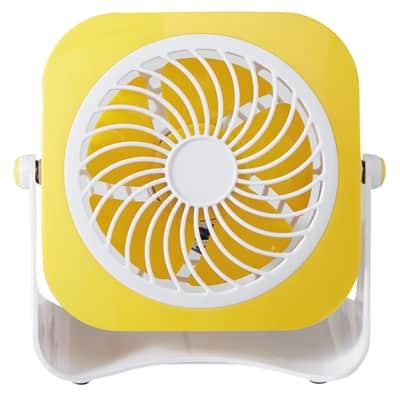 Mini ventilatore EQUATION Yea  giallo 3.0 W Ø 10.0 cm