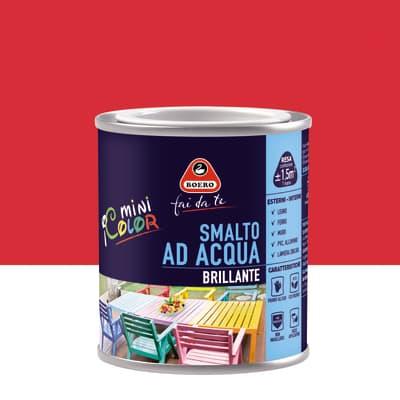 Smalto BOERO FAI DA TE base acqua rosso ciliegia 0,125 L