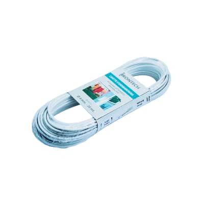 Corda stendibiancheria STANDERS ottonato rivestito PVC bianco  in acciaio Ø 4 mm x 20 m