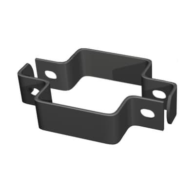 Collare di fissaggio in acciaio galvanizzato plastificato Collare quadro doppio L 11 x P 4.5 x x H 3.5 cm