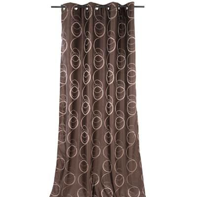 Tenda Rondine marrone occhielli 140 x 280 cm