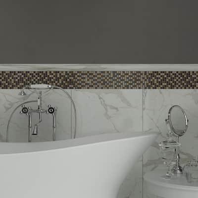 Mosaico Ardesia H 30 x L 30 cm marrone