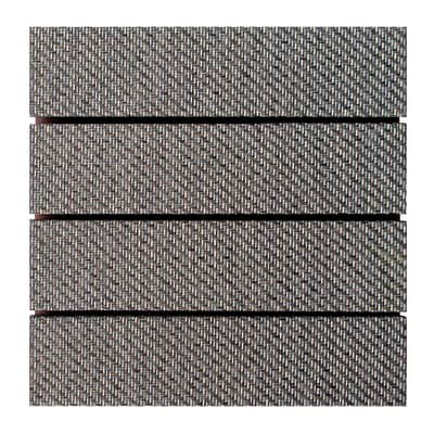 Piastrelle ad incastro Piastrella ad incastro plastica woven 30 x 30 cm, Sp 32 mm colore marrone scuro
