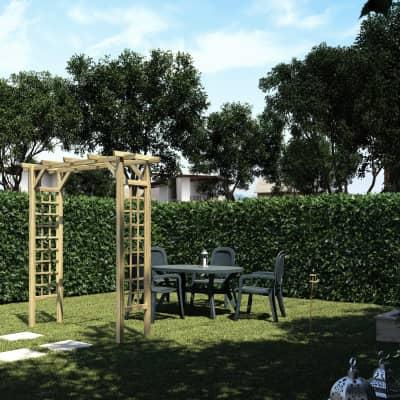 Pergola Doppia in legno naturale L 210 x P 72 x, H 214 cm