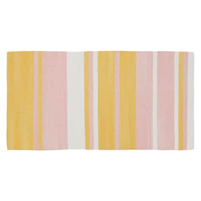 Tappeto Antibes in cotone, rosa, 55x140 cm