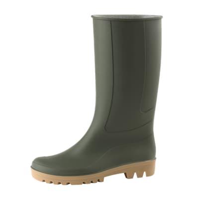 Stivali in pvc verde Ginocchio misura 45