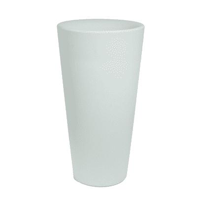 Vaso Dana in plastica colore bianco H 78 cm, Ø 40 cm