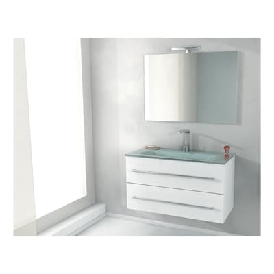 Set mobile da bagno con lavabo Zara frassino L 100 cm