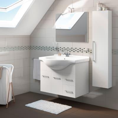 Mobile bagno Ginevra bianco L 86 cm