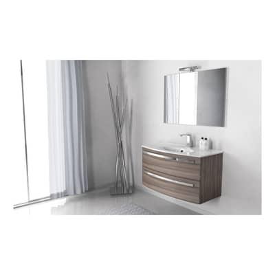 Set mobile da bagno con lavabo Lucy larice L 100 cm