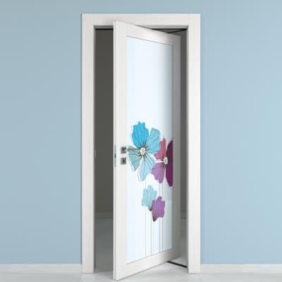 Porta rototraslante Eden Vetrata larice bianco L 80 x H 210 cm destra