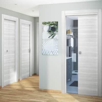 Porta pieghevole Pigalle palissandro bianco L 80 x H 210 cm sinistra