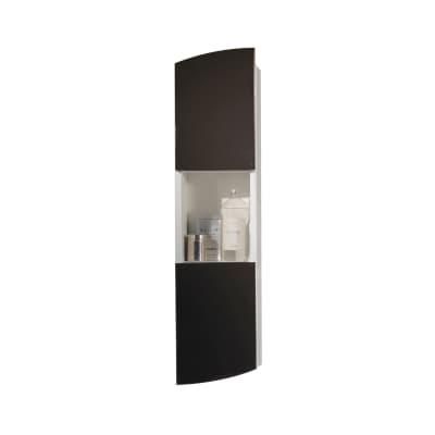 Pensile Soft 2 ante L 24 x P 18 x H 100 cm struttura lucido bianco e frontali grigio laccato