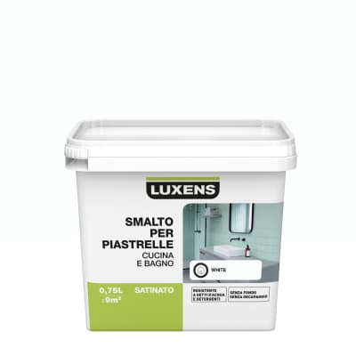 Smalto per piastrelle LUXENS 0.75 l bianco