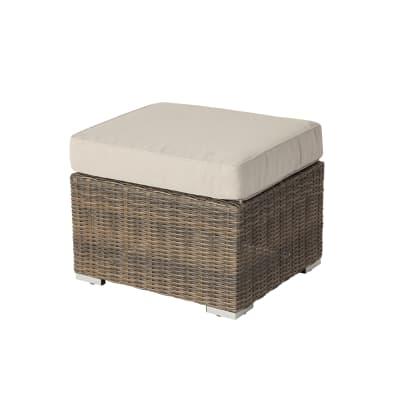 Sgabello da giardino con cuscino  in alluminio NATERIAL colore beige