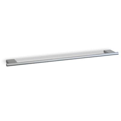 Porta salviette fisso a muro 1 barra Ice cromo opaco L 63 cm