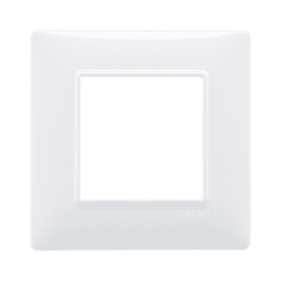 Placca VIMAR Plana 2 moduli bianco