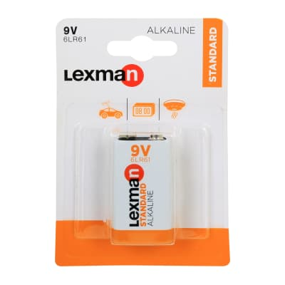 Pila alcalina 6 LR61 9 V LEXMAN 844964 1 batteria