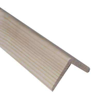 Paraspigolo in abete naturale 3 m x 45 mm, Sp 45 mm