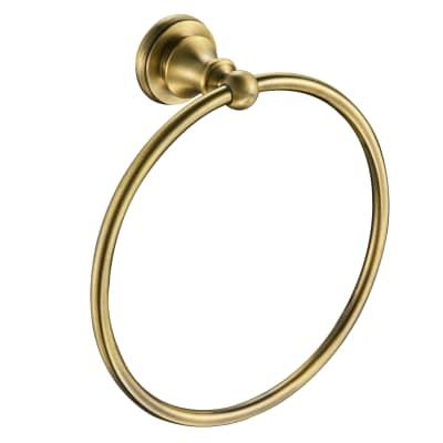 Porta salviette ad anello cromo spazzolato