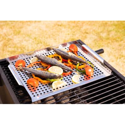 Supporto di cottura per accessoriare il barbecue naterial for Piano cottura 5 fuochi leroy merlin