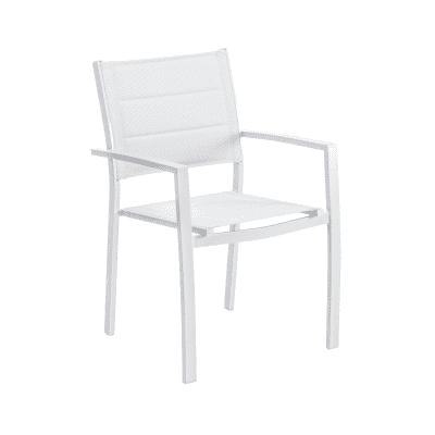 Poltrona da giardino senza cuscino in alluminio Orion Beta NATERIAL colore grigio chiaro