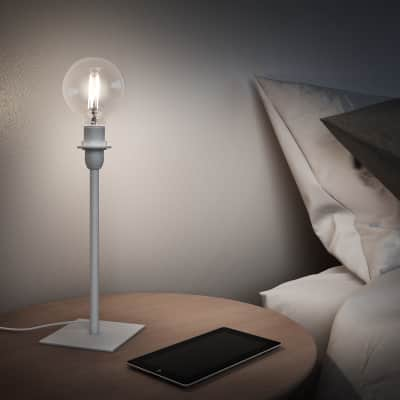 Base della lampada da tavolo Linz bianco, H 26 cm, E14 MAX40W