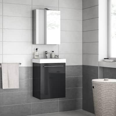 Mobile bagno Remix grigio londra L 45 cm