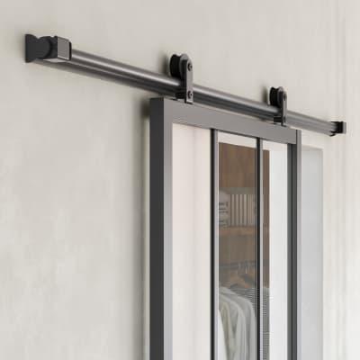 Binario per porta scorrevole Loft grigio L 1.86 m