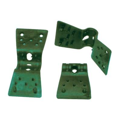Clip verde in pvc 35 x 24 pezzi