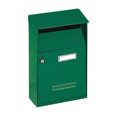 Cassetta postale ALUBOX formato Lettera, verde, L 21 x P 9.5 x H 30.5 cm