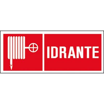 Cartello segnaletico Idrante pvc 31 x 14 cm