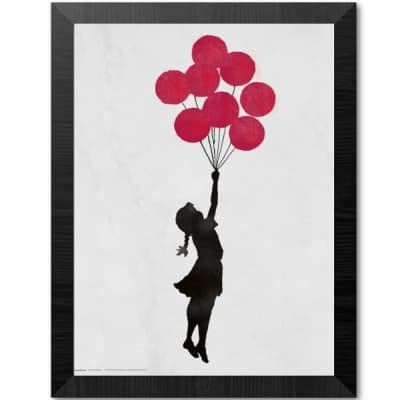 Poster Quadro 30x30 Brandalised Girl Floating 35x35 cm