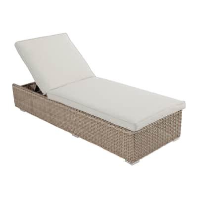 Sedia a sdraio in alluminio Costarica marrone L 200 x H 73 cm