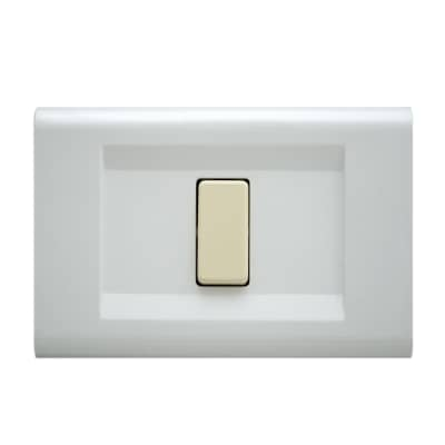 Placca FEB Laser 1 modulo bianco compatibile con magic