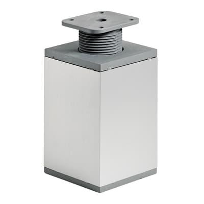 Piedi fissi HETTICH alluminio silver  L 60 cm x H 13 cm