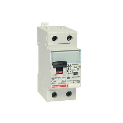 Interruttore magnetotermico BTICINO GC8813AC16 1P+N 16A