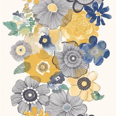 Carta da parati Fiore multicolor